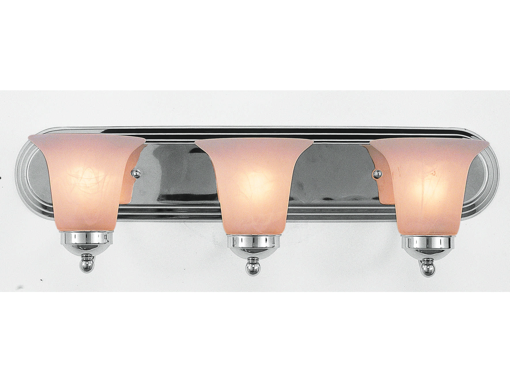 Trans Globe Lighting Remodel Projects Polished Chrome Three-Light Vanity Light PL-3503-PC