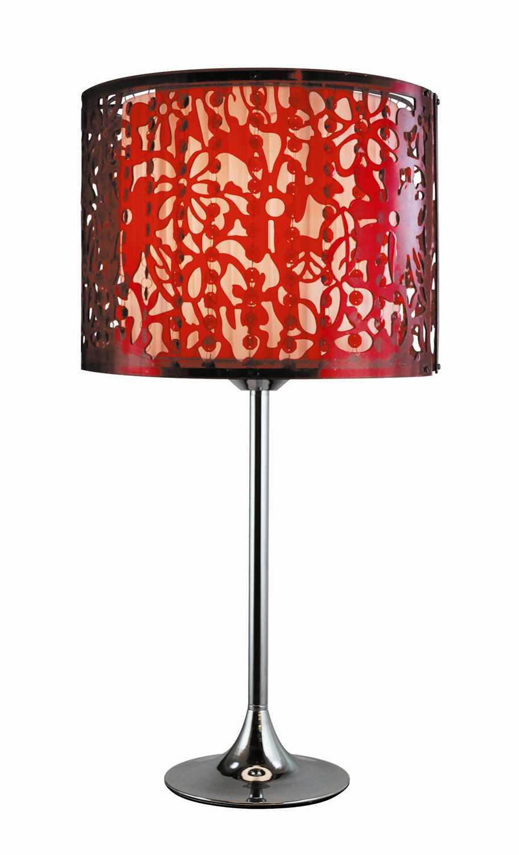 Trans globe lighting retro red table lamp rs 611 rd rd for Retro globe floor lamp