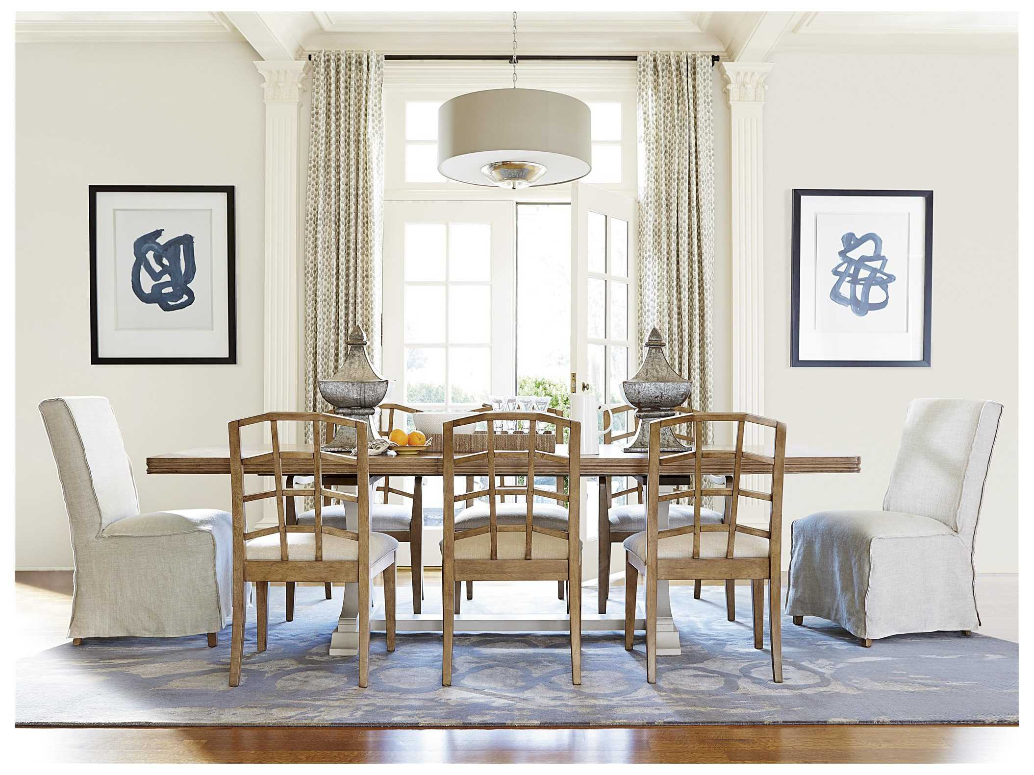 White painted dining room furniture