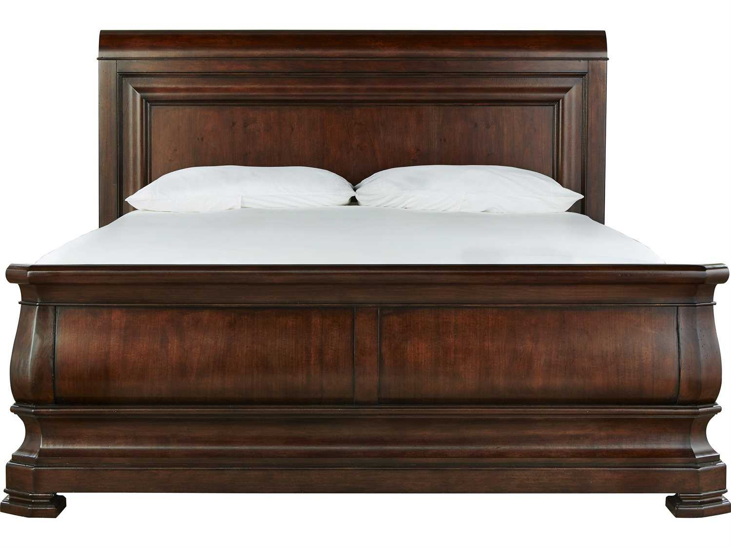 Universal furniture reprise rustic cherry california king - King size sleigh bed bedroom set ...