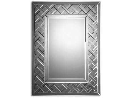 Uttermost cleavon 36 x 48 frameless wall mirror 08035 b for Mirror 48 x 36