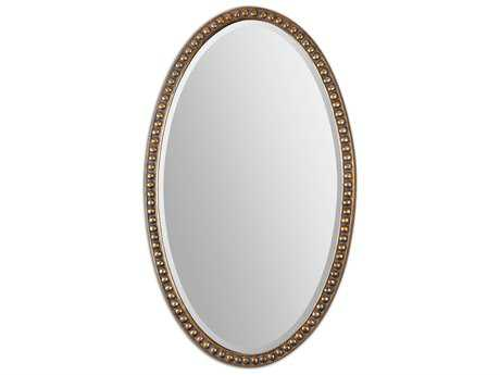 Uttermost beadel oval 30 x 50 wall mirror 12885 for Mirror 50 x 30