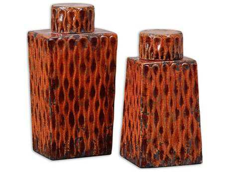 Uttermost Raisa Burnt Orange Containers (2 Piece Set)