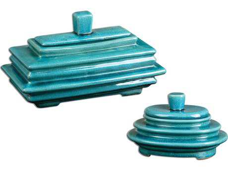 Uttermost Indra Bright Blue Boxes (2 Piece Set)