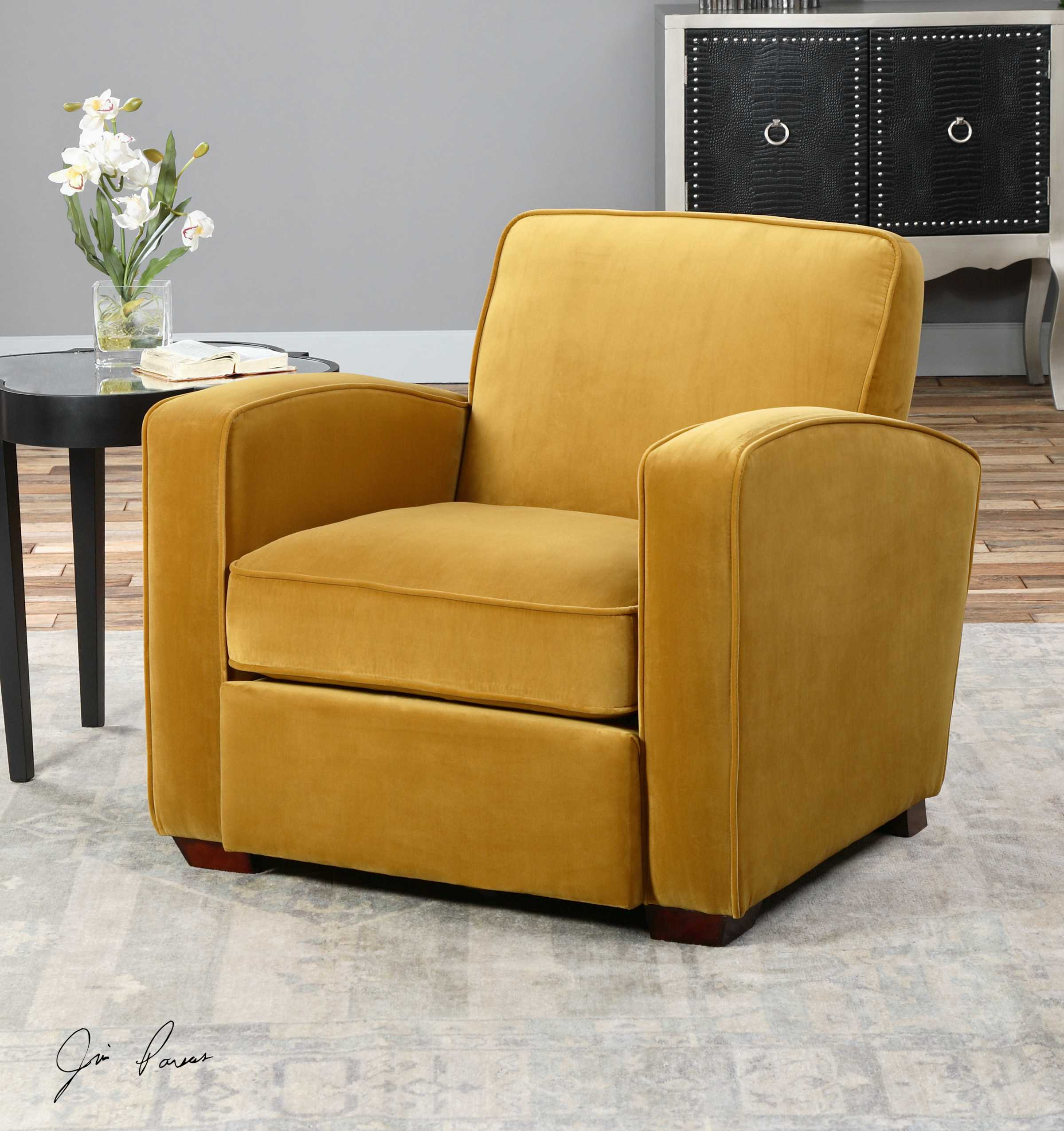 Uttermost Somac Gold Accent Chair 23199