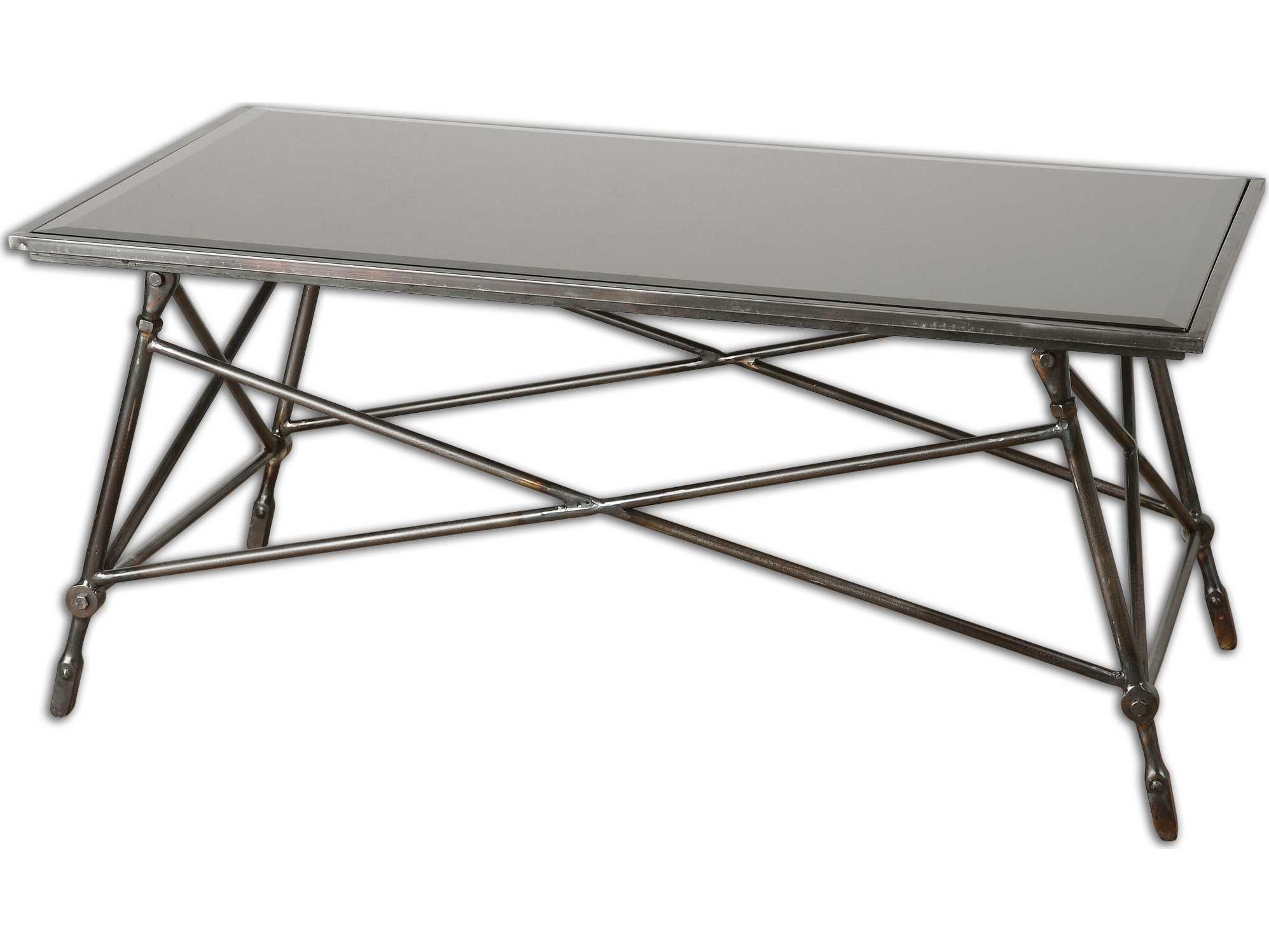 uttermost collier 44 x 22 rectangular black glass coffee table 24418. Black Bedroom Furniture Sets. Home Design Ideas