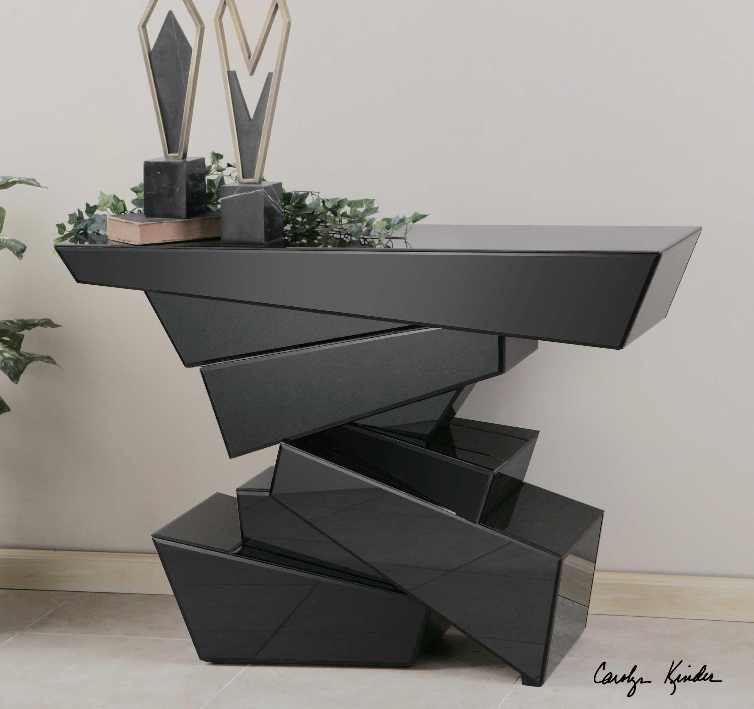 Uttermost tauri 46 rectangular modern console table 24429 - Moderne consoles ...