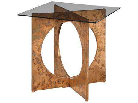 Uttermost Darry Copper 24.25'' Square Accent Table