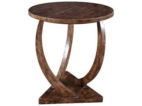 Uttermost Pandhari Heavy Black 24' Round Accent Table