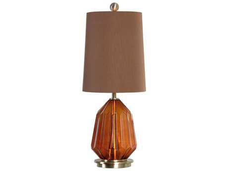 Uttermost Tomoka Dark Amber Glass Table Lamp