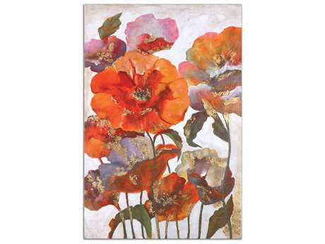 Uttermost Delightful Poppies Floral Wall Art