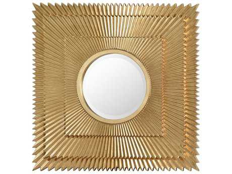 Uttermost Soriano 24'' Square Gold Leaf Mirror