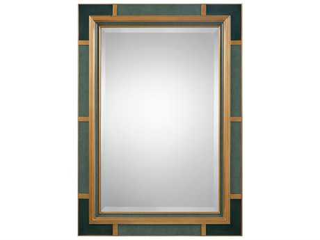 Uttermost Tavaris 32.5L x 44.5H Rectangular Persian-Green Mirror
