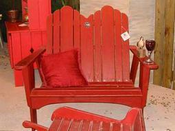 Uwharrie Chair Original Wood Loveseat