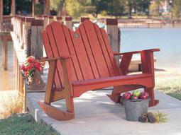 Uwharrie Chair Original Wood Arm Rocker Loveseat