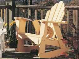 Uwharrie Chair Fanback Wood Rocker Adirondack Chair