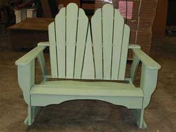Uwharrie Chair Fanback Wood 2 Seater Loveseat 52Wx36Dx45H