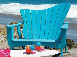 Uwharrie Chair Wave Wood Left/Right Loveseat