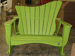 Uwharrie Chair Wave Wood Loveseat Left Side or Right Side Facing 50Wx35Dx44H