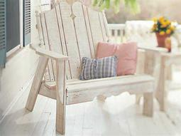 Uwharrie Chair Nantucket Wood Loveseat 50Wx38Dx44H