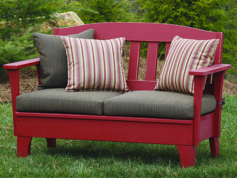 Uwharrie Chair Westport Wood Cushion Arm Bench W051