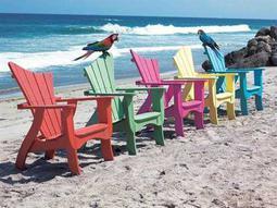 Uwharrie Chair Wave Wood Pool Lounge Set