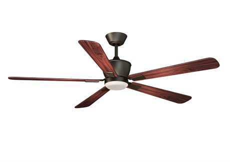 Vaxcel Geneva Oil Rubbed Bronze & Frosted Opal Glass 52 Ceiling Fan
