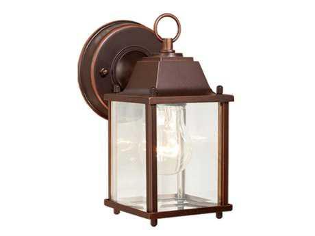 Vaxcel Millard Burnished Bronze & Clear Beveled Glass 5 Outdoor Wall Light