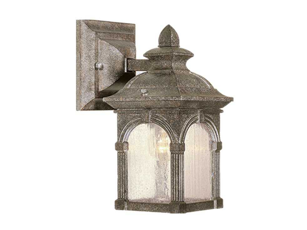Vaxcel Essex Lava Stone & Seeded Glass 5 Outdoor Wall Light OW38753LS