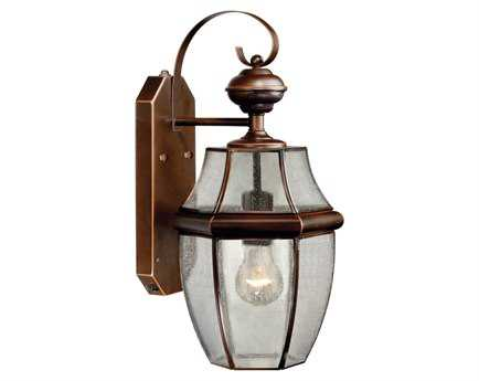 Vaxcel Dualux Calvin Burnished Bronze & Seeded Glass 9 Outdoor Smart Light