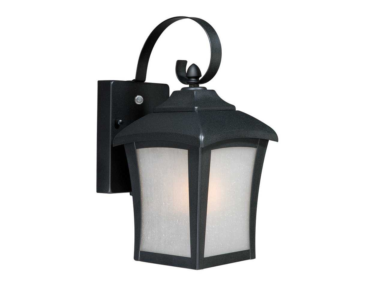 Vaxcel Boardwalk Dark Bronze & Frosted Glass 6 Outdoor Wall Light T0002
