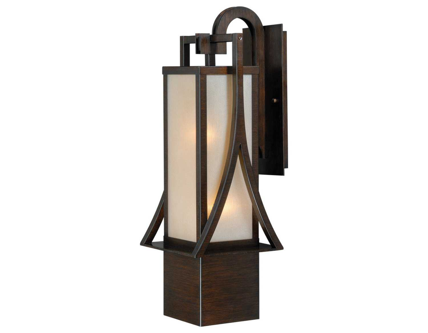 Vaxcel Osaka Venetian Bronze & Champagne Glass 8-1/4 Outdoor Wall Light T0044