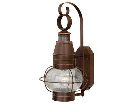 Vaxcel Dualux Chatham Burnished Bronze & Seeded Glass 10 Outdoor Wall Light
