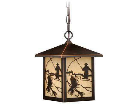 Vaxcel Mayfly Burnished Bronze 8'' Wide Outdoor Pendant Light