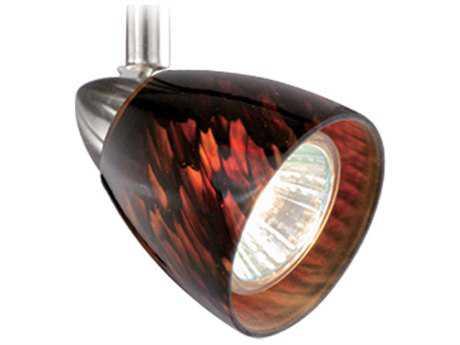 Vaxcel Veneto Satin Nickel Spot Light with Dark Umbra Glass