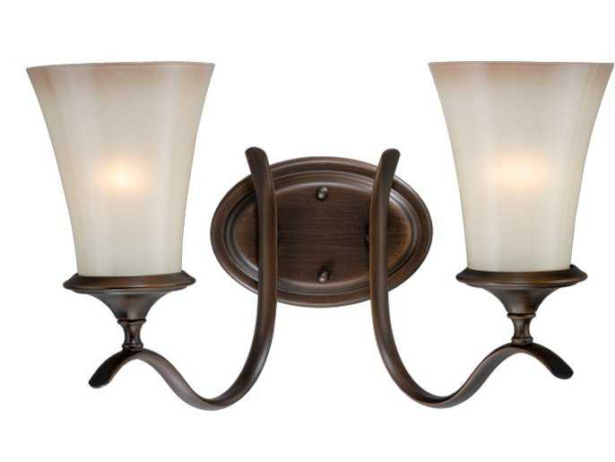 vaxcel sonora venetian bronze champagne glass two light vanity light. Black Bedroom Furniture Sets. Home Design Ideas