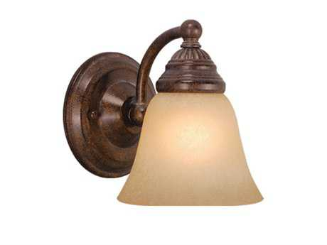 Vaxcel Standford Royal Bronze & Creme Cognac Glass Wall Sconce