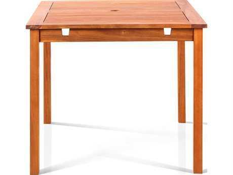 Vifah Eucalyptus Wood 47 Square Table