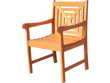 Vifah Malibu Eco-friendly Hardwood Garden Arm Chair