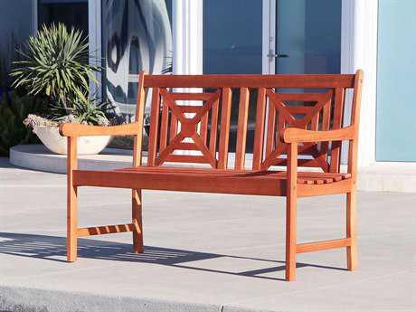 Vifah Malibu Eco-friendly 4-foot Hardwood Garden Bench