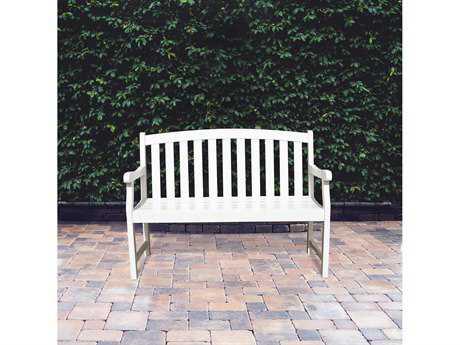 Vifah Bradley Eco-friendly 4-foot White Wood Garden Bench