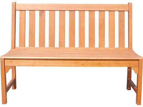 Vifah Malibu Eco-friendly 4-foot Hardwood Garden Armless Bench