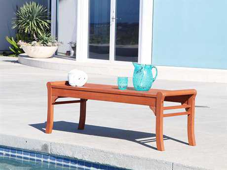 Vifah Malibu Eco-friendly 4-foot Backless Hardwood Garden Bench