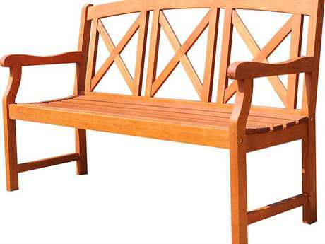 Vifah Malibu Eco-friendly 5-foot Hardwood Garden Bench