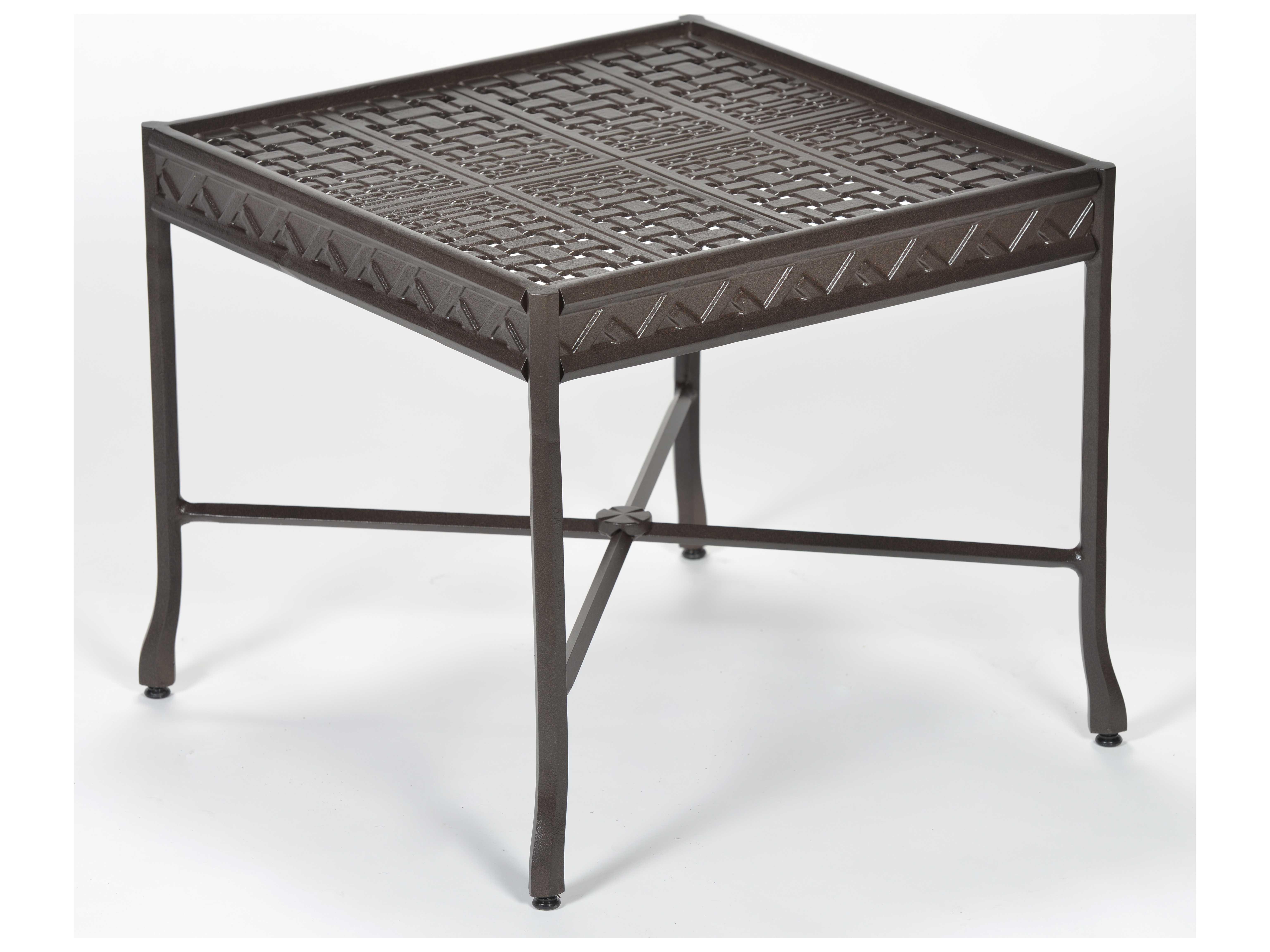 Windham Castings Savannah Cast Aluminum 22 39 39 Square Coffee Table 1420