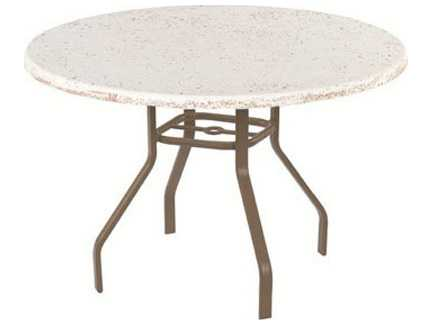 Windward Design Group Faux Stone Top Aluminum 36 Round Dining Table KD3618FS