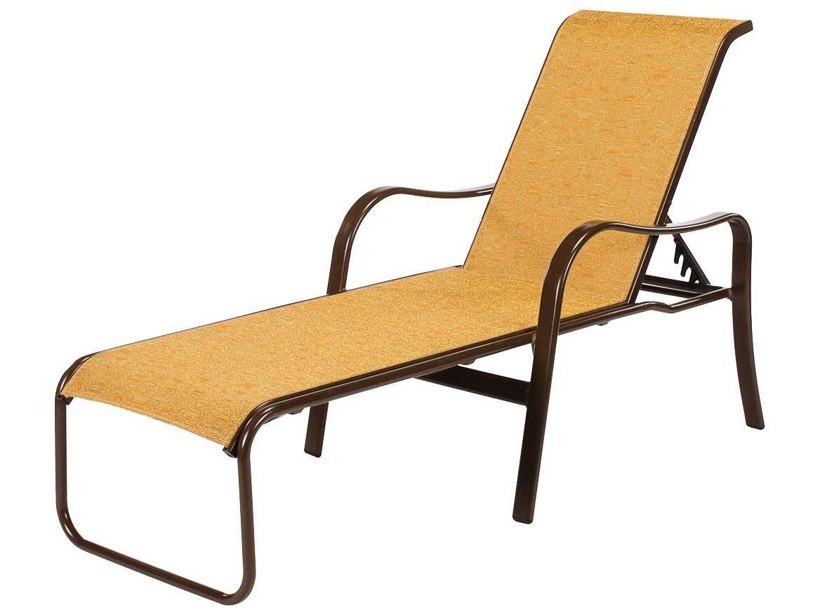 Windward design group sonata sling aluminum chaise lounge for Aluminum sling chaise lounge