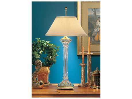 Wildwood Lamps Lead Crystal Fluted Crystal Table Lamp