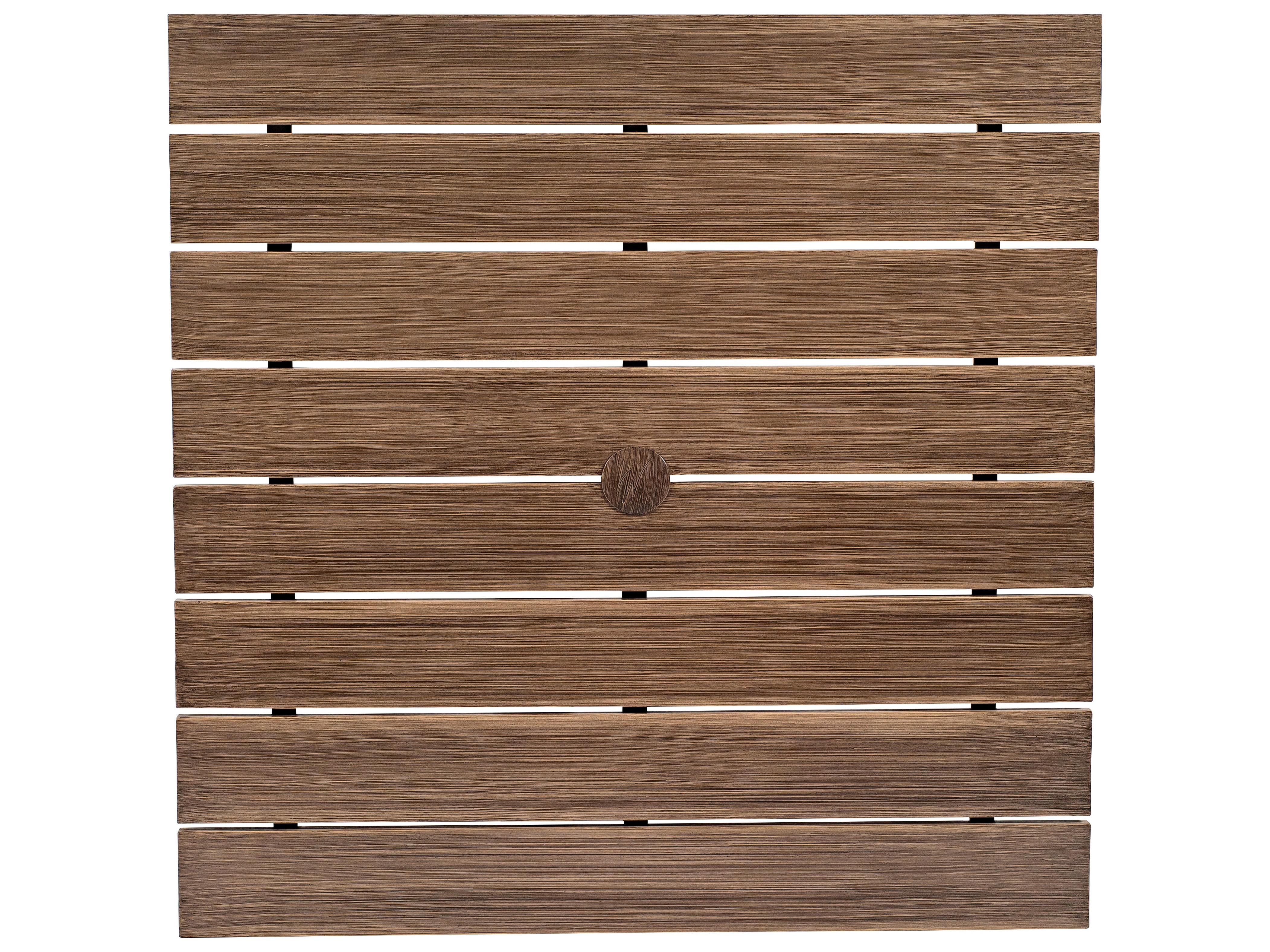 Woodard extruded aluminum woodland 48 x 36 rectangular for Coffee table 48 x 36