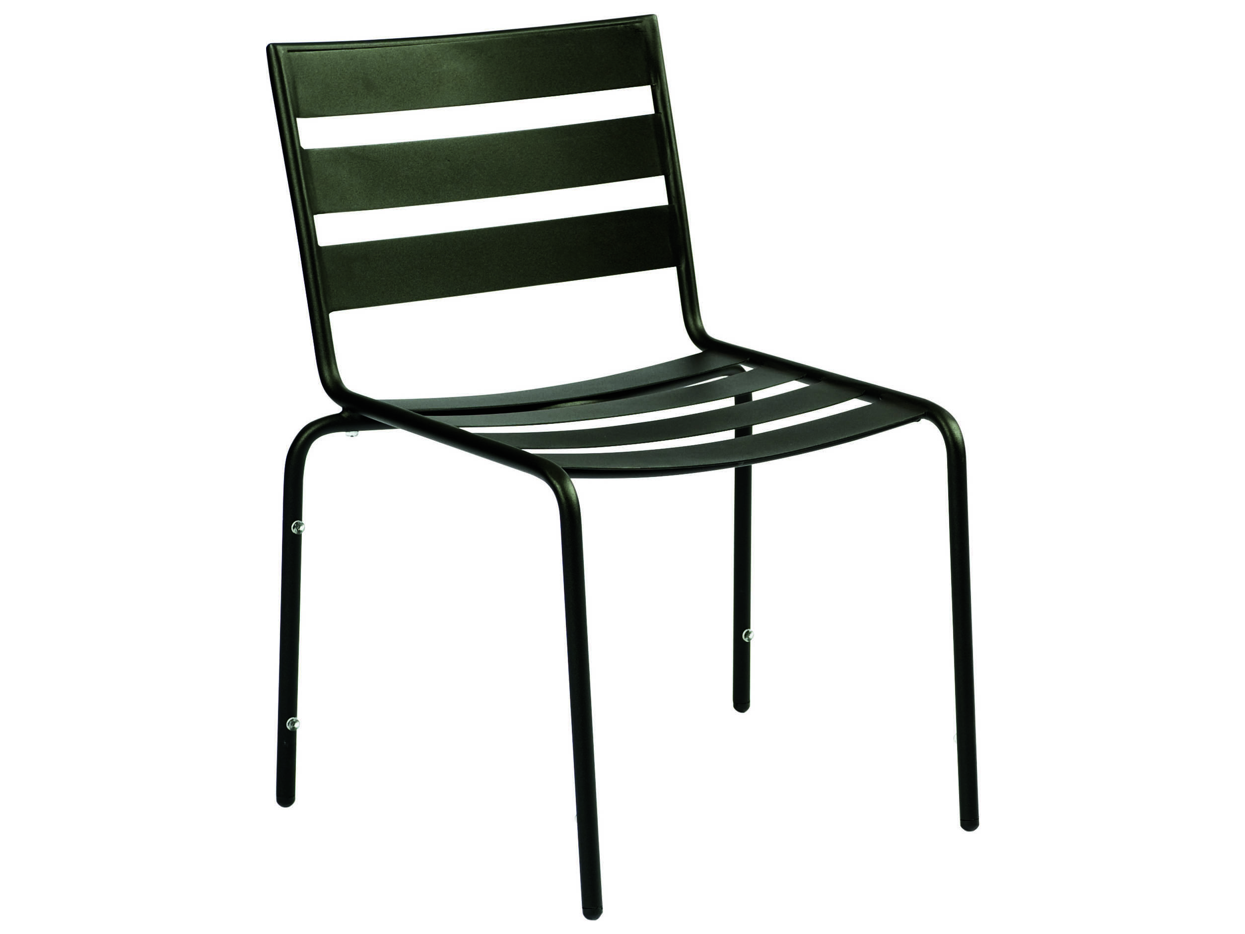 Woodard cafe series wrought iron stackable dining chair in for Wrought iron cafe chairs
